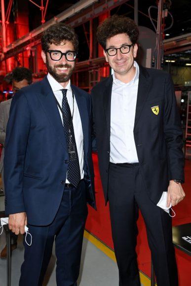 Ferrari Fashion Collection Runway  Arrivals - Enzo Ferrari and Mattia Binotto
