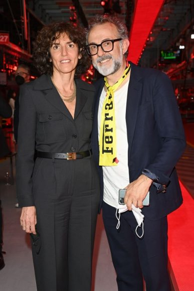 Ferrari Fashion Collection Runway -Arrivals -Francesca Bellettini and Massimo Bottura