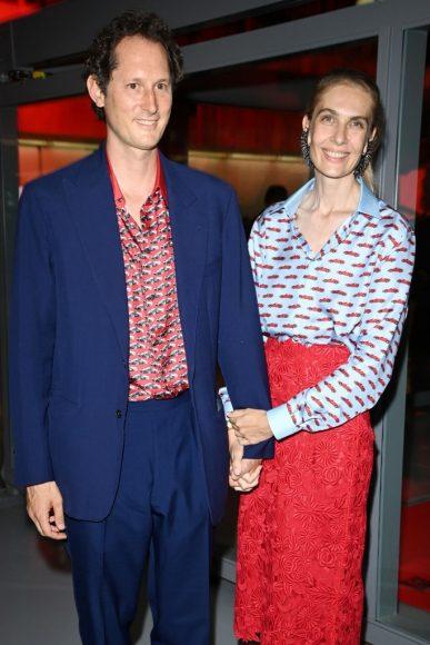 Ferrari Fashion Collection Runway -Arrivals - John Elkann and Lavinia Borromeo