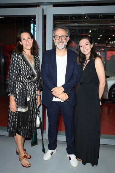 Ferrari Fashion Collection Runway  Arrivals - Lara Gilmore, Massimo Bottura and Alexa Bottura