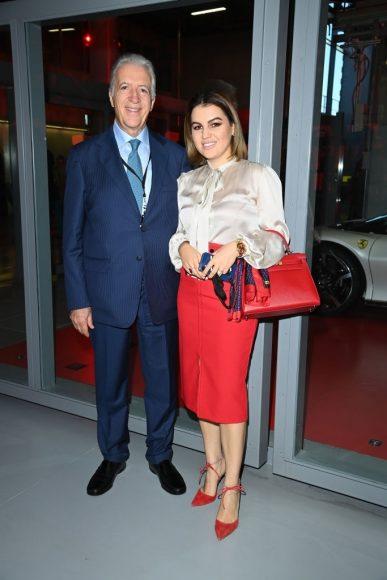 Ferrari Fashion Collection Runway -Arrivals - Piero Lardi Ferrari and Antonella Ferrari