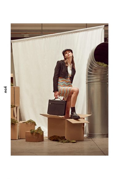 Hat: Stylist's own  Shirt & jacket: Bershka  Skirt: Primark  Boots: Zara  Handbag: Stylist's own