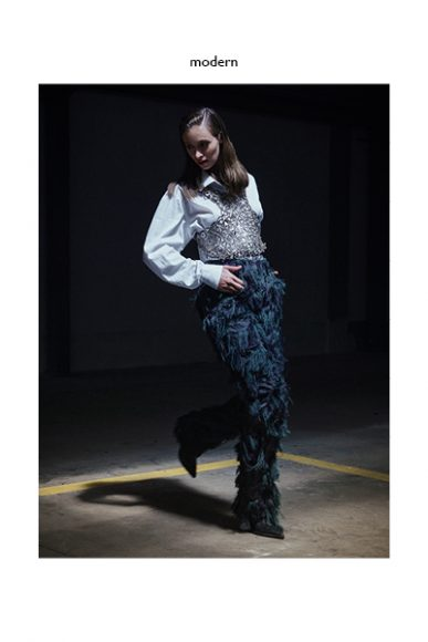 Shirt: Pinzani vintage  Gilet: Idriss Guelai Atelier  Pants: Luigi Veccia  Shoes: Stylist's own