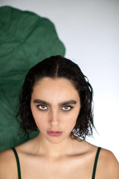#twopiecesuit green Serpentina on @expo_sed_paris