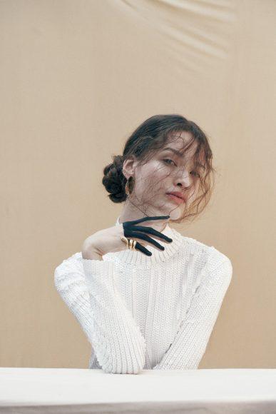 Dress Zara, earrings and ring Veronese