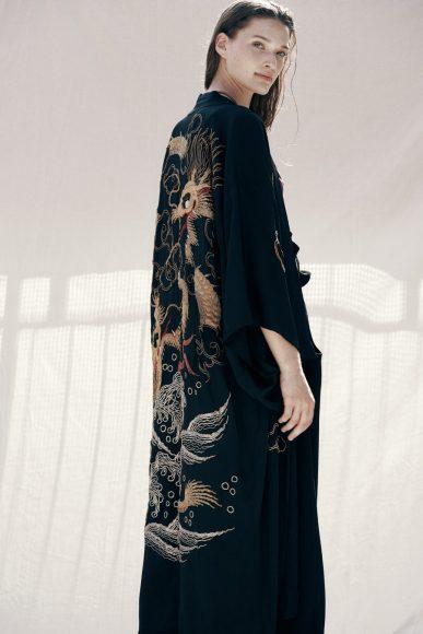 Kimono vintage, pants Alcoolique Bra Albano