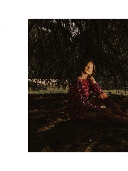 DRESS: ViCOLO vintage courtesy of Ro.Ca.Gi EARRINGS: Carlo Zini Bijoux RINGS: Carlo Zini Bijoux HIGH BOOTS: LeSilla