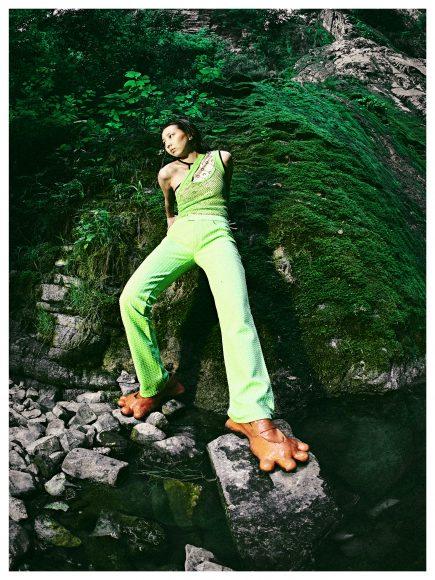 Top: Pendeen Top: Marine Serre Trousers: Fiorucci Shoes: AVAVAV