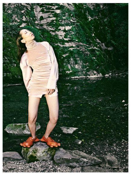 Dress: Reamerei Shirt: MSGM Shoes: AVAVAV
