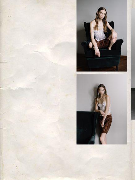 Corset: Stylist's own Shorts: Gentile Milano Earrings: Stylist's own