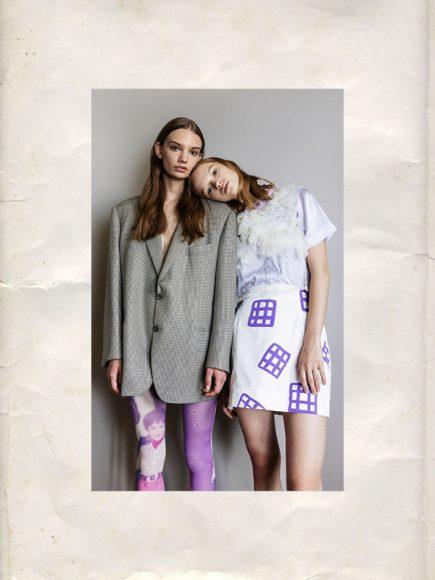 LEFT:  Blazer: Stylist's Own Tights: Tytm8 RIGHT: Gilet: Gentile Milano Shirt: Valenti Skirt: Valenti