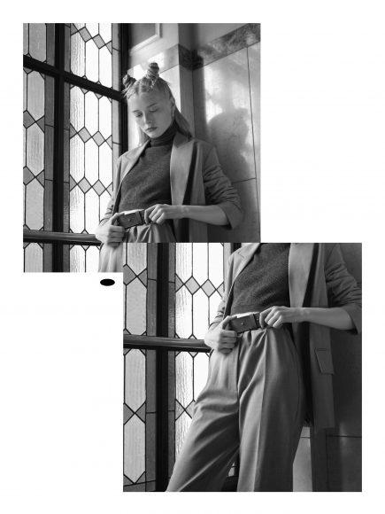 Suit Solotre  Turtleneck Solotre  Belt Eleventy  Earrings Rue des Mille
